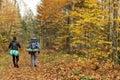 Autumn trekking Royalty Free Stock Photo