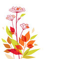 Autumn vector bouquet floral design element Stock Photo
