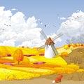 Autumn vector landscape