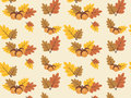 Autumn vector pattern with colourful leaves
