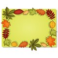 Autumn vector rectangular frame Stock Photo