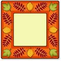 Autumn vector square frame Royalty Free Stock Photos