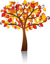 Autumn vector tree Royalty Free Stock Photography