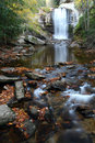 An Autumn view of Looking Glass Falls, Western NC Royalty Free Stock Photo