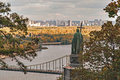 Autumn view of the monument to Vladimir, Kiev, Ukraine Royalty Free Stock Photo