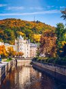 Autumn view of old town of Karlovy Vary (Carlsbad), Czech Republ