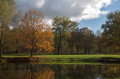 Autumn view in park seasonal scenery the Stock Photography