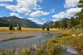 Autumn View of Rocky Mountain National Park Royalty Free Stock Photo