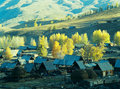 Autumn village  Baihaba, xinjiang,china Stock Photography