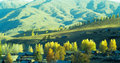 Autumn village  Baihaba, xinjiang,china Royalty Free Stock Photos