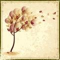 Autumn vintage background eps Royalty Free Stock Photo