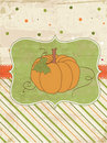 Autumn Vintage Card with Pumpkin Royalty Free Stock Photography
