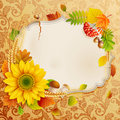 Autumn vintage greeting card Stock Photo