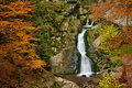 Autumn Waterfall Royalty Free Stock Photo