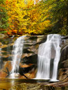 Autumn Waterfall Canyon River Royalty Free Stock Photo