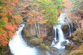Autumn waterfall ryuzu of in nikko tochigi japan Stock Photography