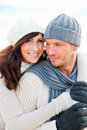 Autumn winter couple Royalty Free Stock Photos