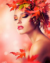 Stock Image Autumn Woman