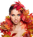 Autumn Woman. Royalty Free Stock Image