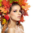 Autumn Woman. Stock Photography