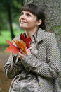 Autumn woman #35 Royalty Free Stock Photos