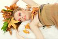 Autumn woman fashion portrait of Royalty Free Stock Image