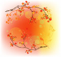 Autumn woods vector Stock Photography