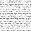Autumn word phrase italic lettering ink monochrome black and white red art vector seamless pattern texture background Royalty Free Stock Photo