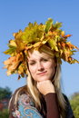 Autumn young  woman Stock Photo