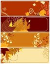 Autumnal banners collection 2 Royalty Free Stock Photo