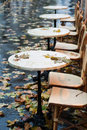 Autumnal bistrot Stock Images