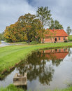Autumnal countryside landscape in sigulda latvia rural at the national nature reserve gauja Royalty Free Stock Images