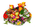 Autumnal floral composition Royalty Free Stock Photos