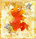 Autumnal  grunge background Royalty Free Stock Photo