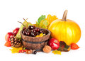 Autumnal harvest fruits and vegetables Royalty Free Stock Photography