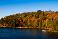 Autumnal scene colorful trees algonquin park Stock Image