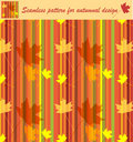 Autumnal seamless texture Stock Photo