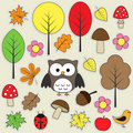 Autumnal stickers Stock Photography