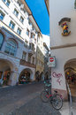 Aux rues de Bolzano Photo stock