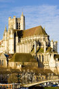 Auxerre Cathedral Stock Photography