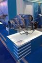 Auxiliary gas turbine engine zhukovsky russia aug ta at the international aviation and space salon maks Stock Image