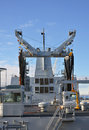 Auxiliary naval ship equipment crane Royalty Free Stock Image