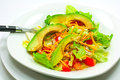 Avacado salad heathy with lettuce tomatoes and cheese Stock Image
