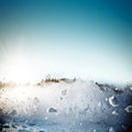 Avalanche in mountains real close up photograph fast snow motion towards camera Stock Images