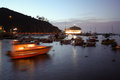Avalon bay catalina sunset Immagine Stock