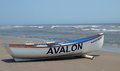 Avalon Beach Patrol Boat Royalty Free Stock Photo