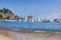 Avalon Harbor, Santa Catalina Island Royalty Free Stock Photo