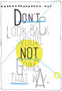 Avant garde poster don t look back you re not goi motivational quote on white background with chaotic geometric figures Royalty Free Stock Photography
