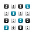 Avatar buttons Royalty Free Stock Photo