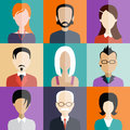 Avatar flat design icons. People